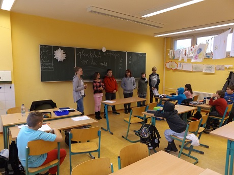 Alle Kanidaten vor der Klasse 4