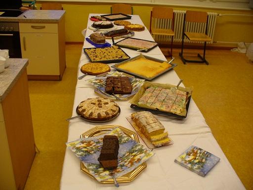 Viele verschiedene Kuchen waren im Schülercafe' zum Verkauf